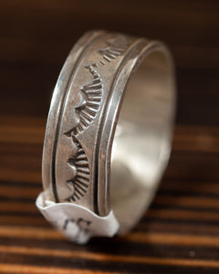 Engraved Feather Ring Band