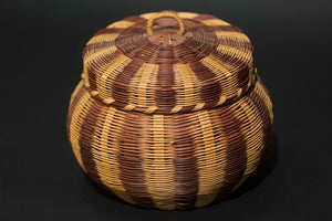 Weaved Basket with Lid