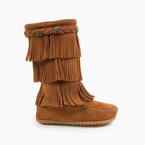 Brown 3 layer Fringe Boot-Child