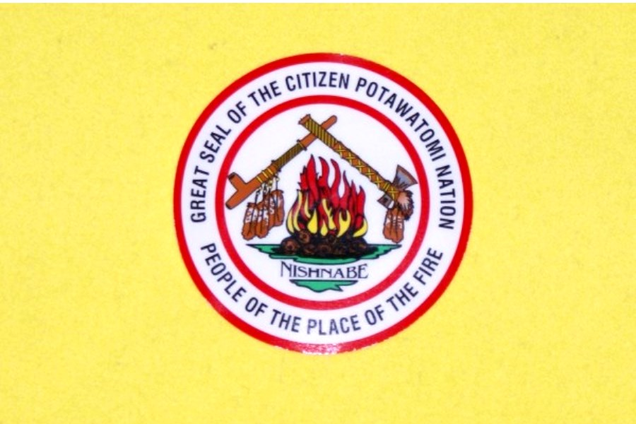 Citizen Potawatomi Nation Window Static Decal