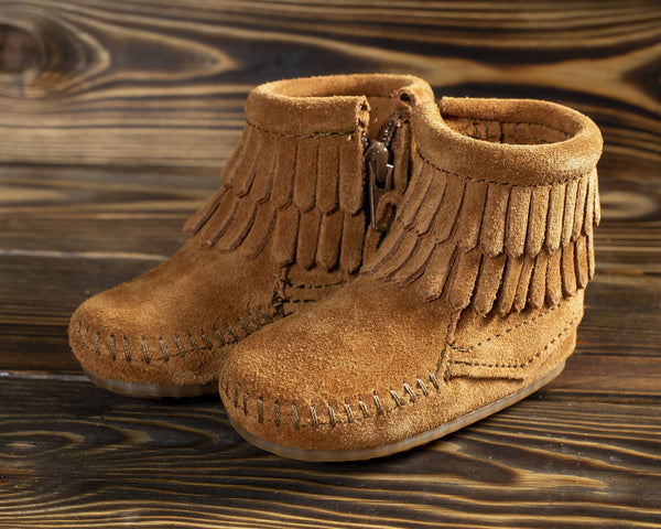 Infant Double Fringe Bootie