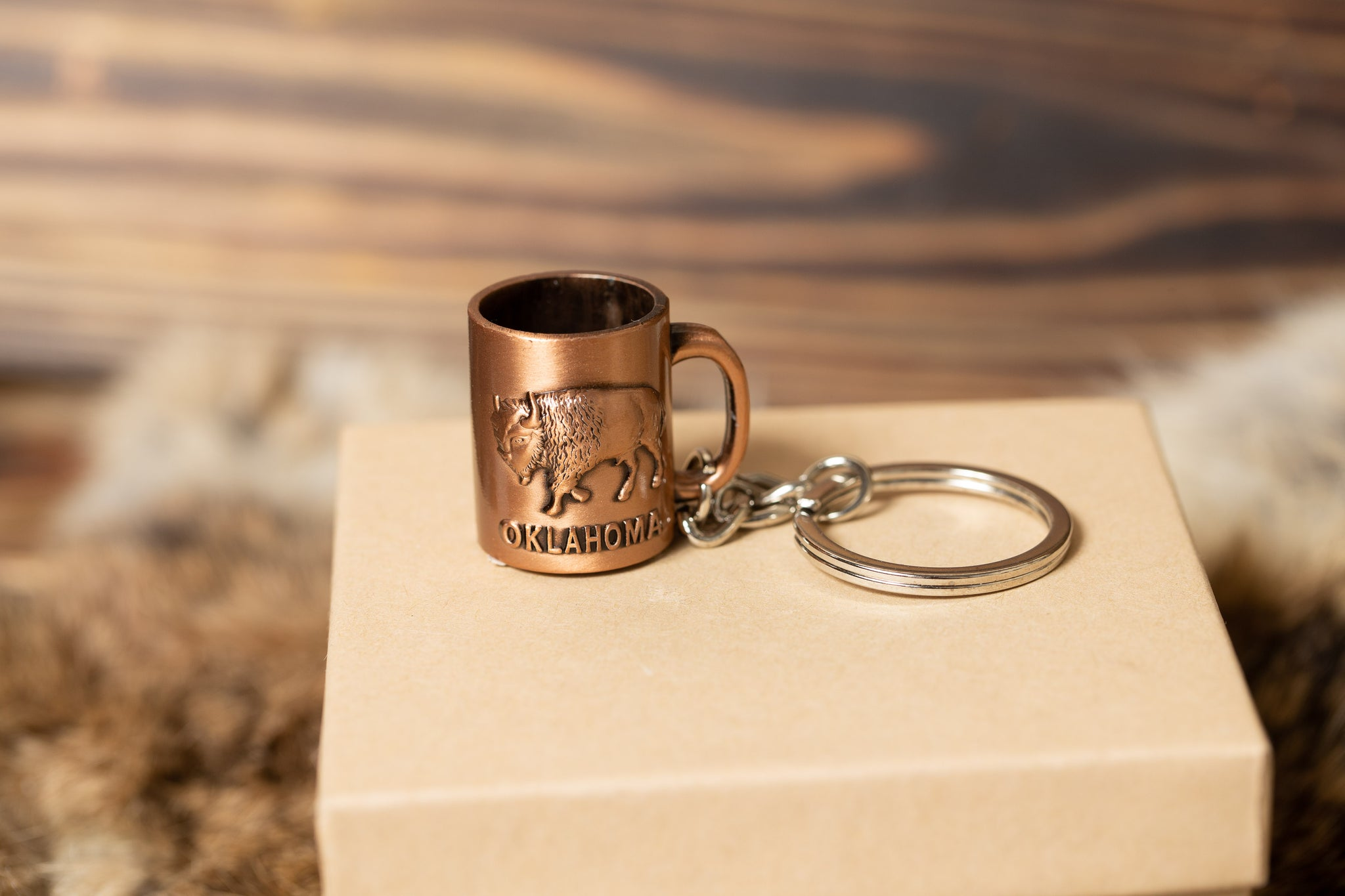 OK Copper Cup Keychain
