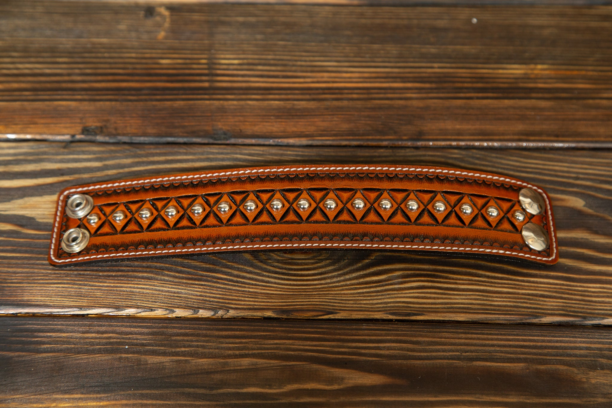 Native Pattern Leather Bracelet