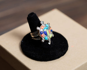 Multi Stone Turtle Ring