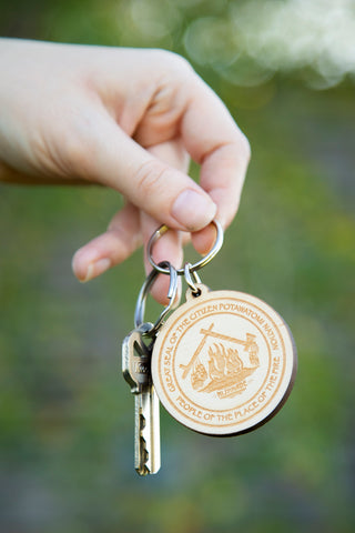 Wood CPN Keychain