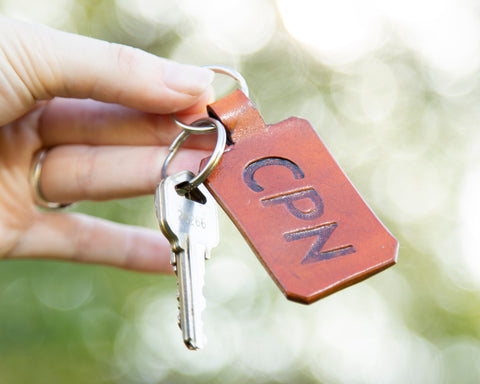 Leather CPN Keychain
