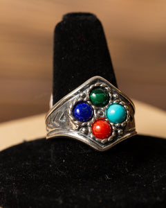Sterling Silver Ring with Four Stones