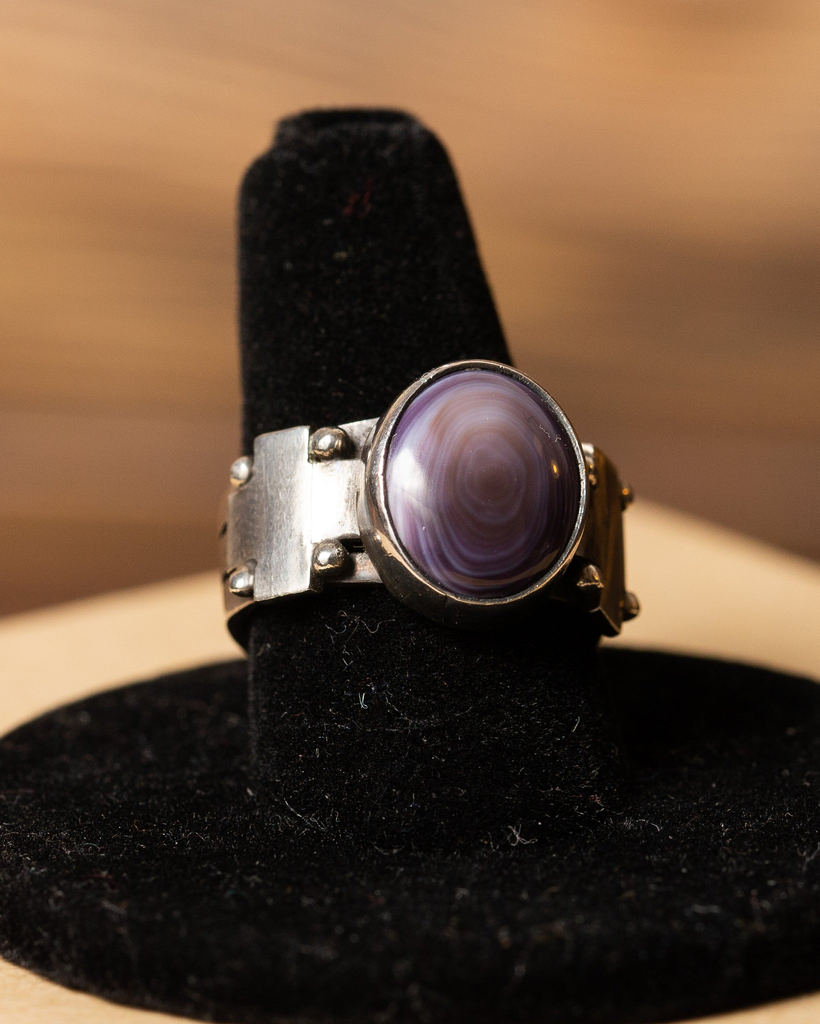 Purple Spiney  Oyster Ring
