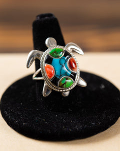 Sterling Silver Turtle Ring
