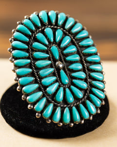 Large Adjustable Turquoise Ring
