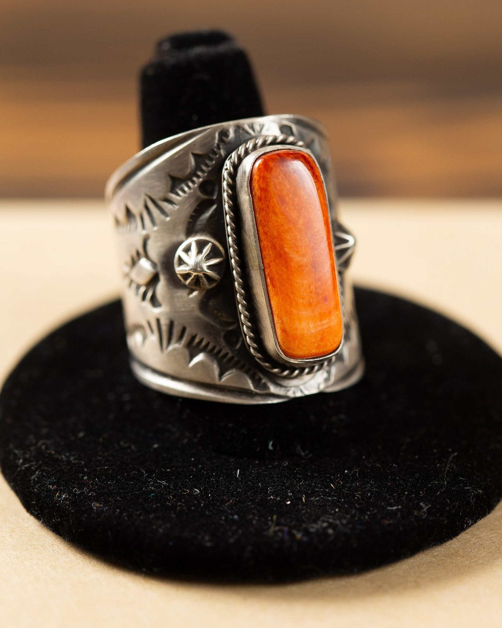 Sterling Silver Coral Ring