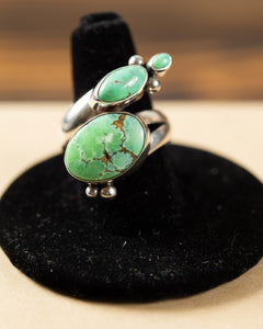 Lime Green Turquoise Ring