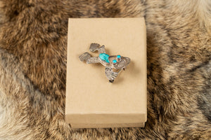 Sterling and Turquoise Frog Pin/Pendant