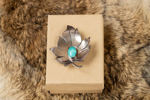 Sterling Silver Leaf Pin Brooch