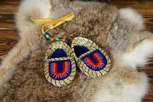 Sweetgrass Moccasin Mirror Hang Decoration