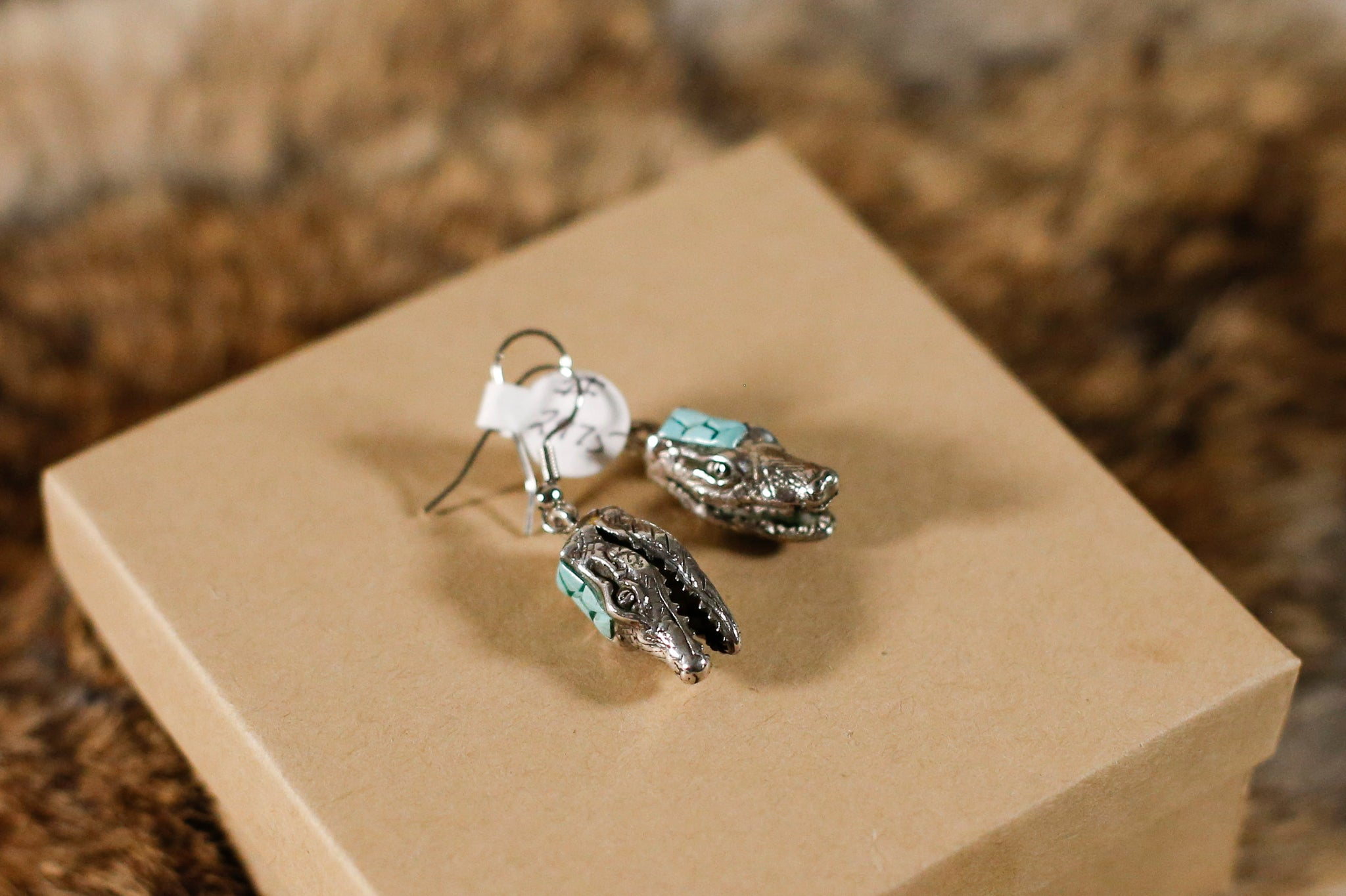 Turquoise Alligator Earrings