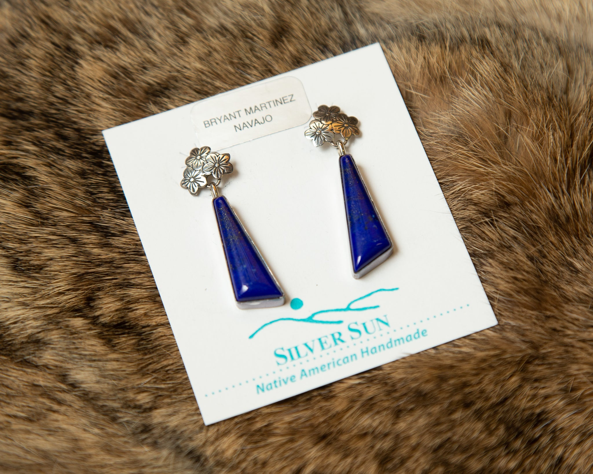 Sterling Silver Lapis Post Earrings