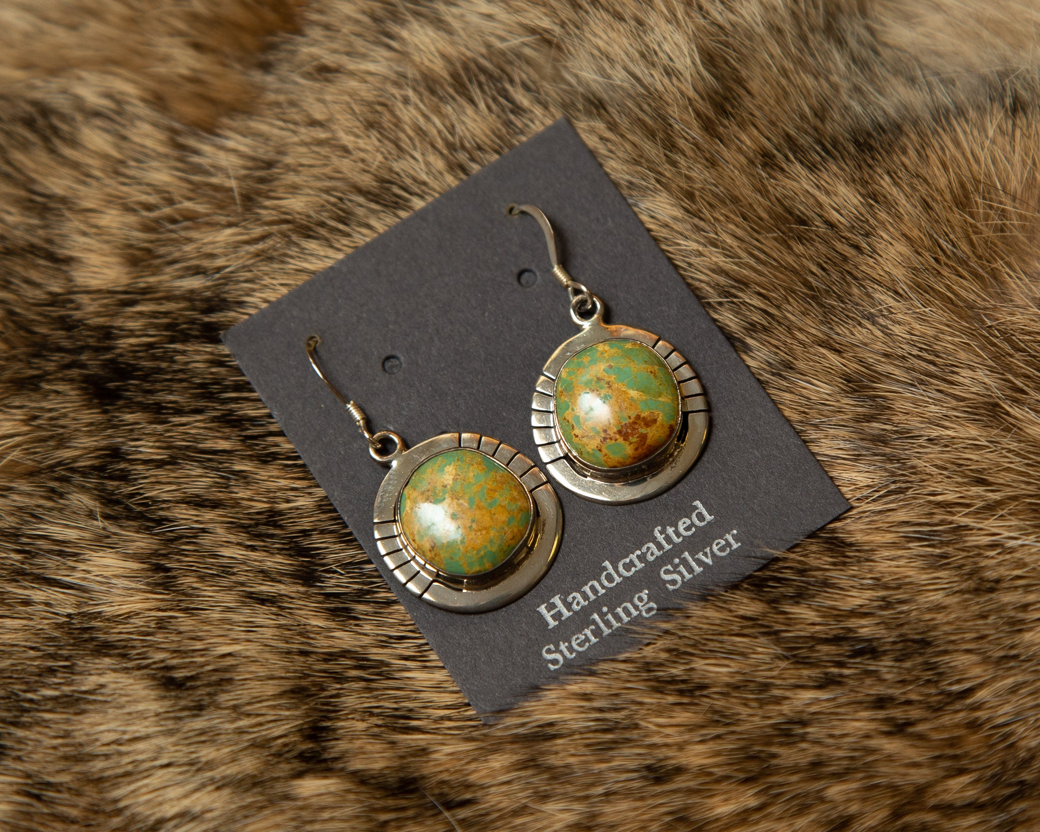 Rainforest Rhyolite and Sterling Silver Earrings