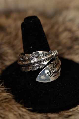 Feather Shaped Ring