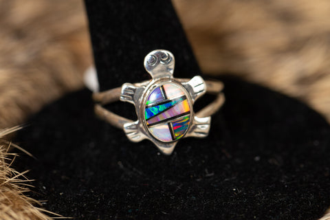 Fire Opal Inlay Turtle