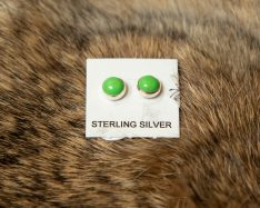 Green Gaspeite Stud Earrings