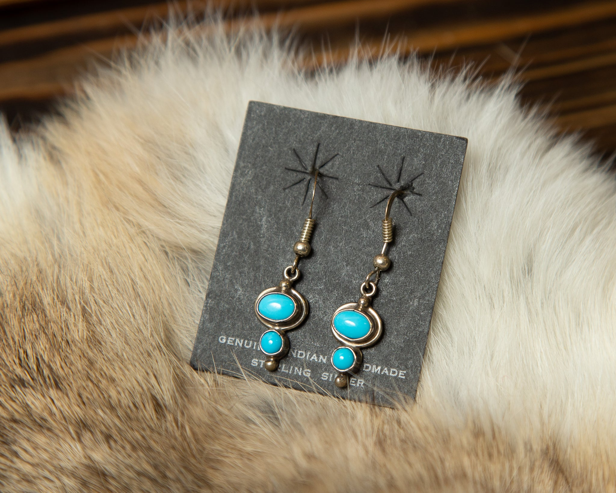 Double Drop Turquoise Earrings