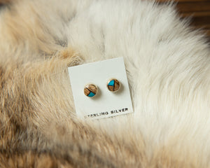 Earthtone Turquoise Stud Post Earrings