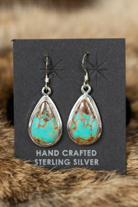 Pear Shaped Turquoise Earrings