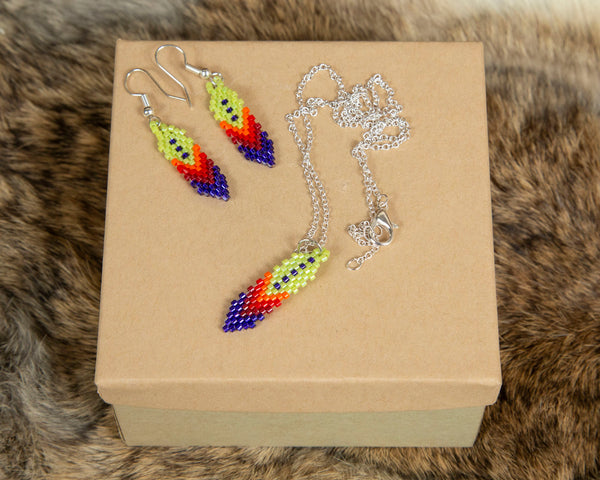 Beaded Feather Sets
