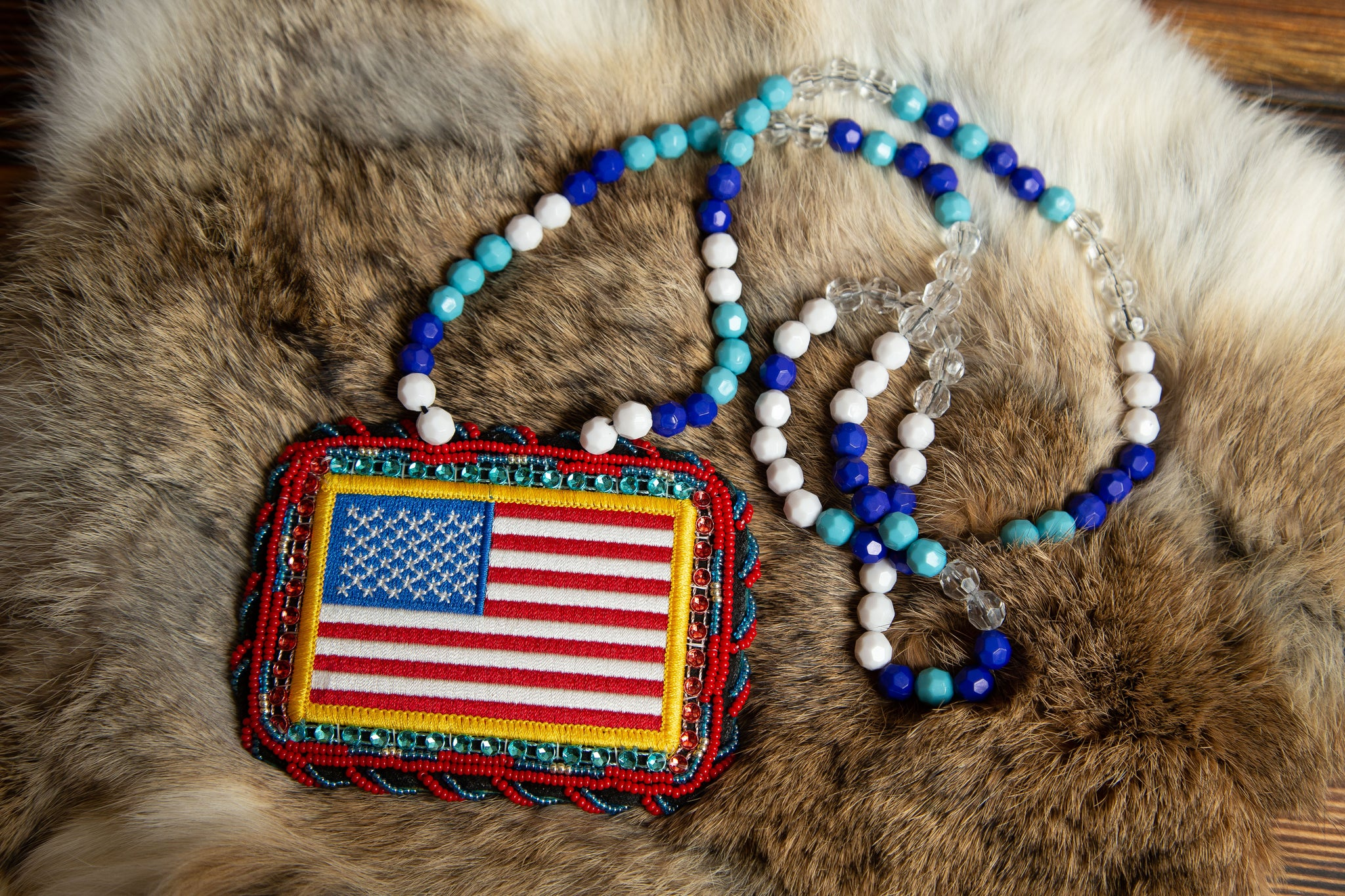 American Flag Medallion Necklace