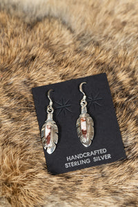 Moondevite Feather Earrings