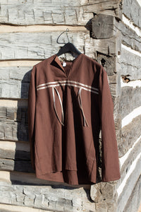 Brown Ribbon Shirt
