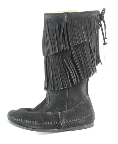 Women's Double Fringe Mid-Calf Boot