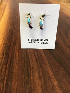 Multicolored Half Moon Earrings