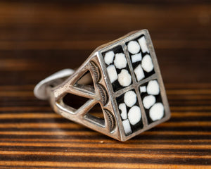 Ivory and Onyx Inlay Ring