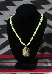 Spectacular Lime Green Turquoise Necklace
