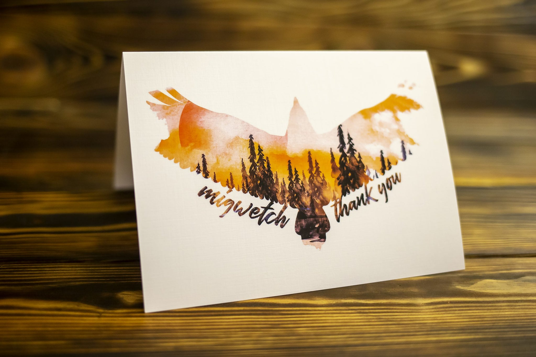 Migwetch (Thank You) Card - Eagle