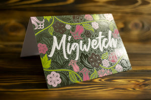 Migwetch (Thank You) Card - Floral
