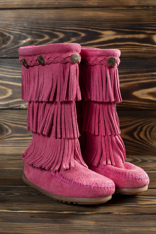 3-Layer Fringe Boot-Child