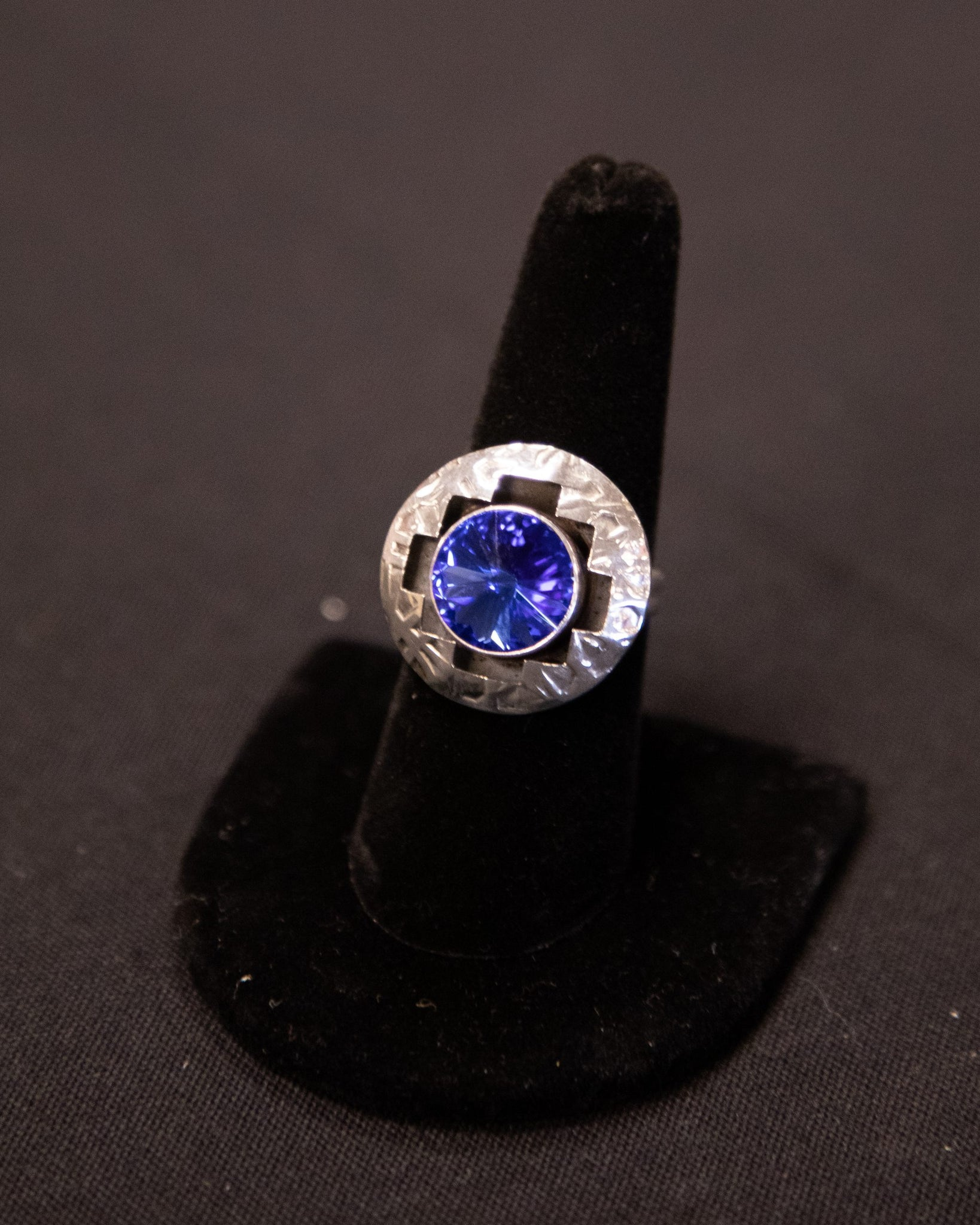 Sapphire and Sterling Silver Ring