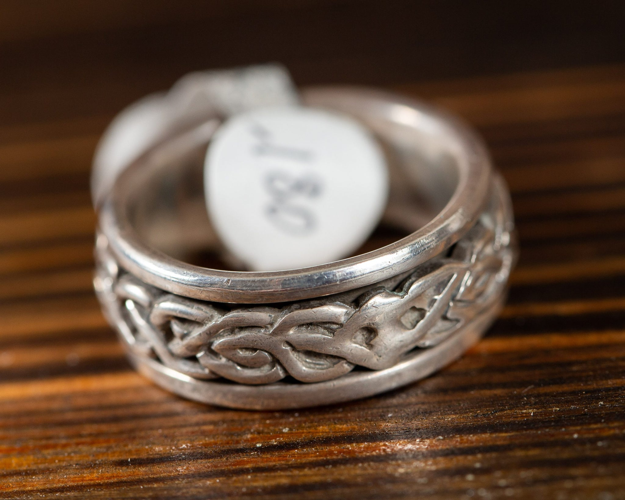 Sterling Silver Spinning Fidget Ring