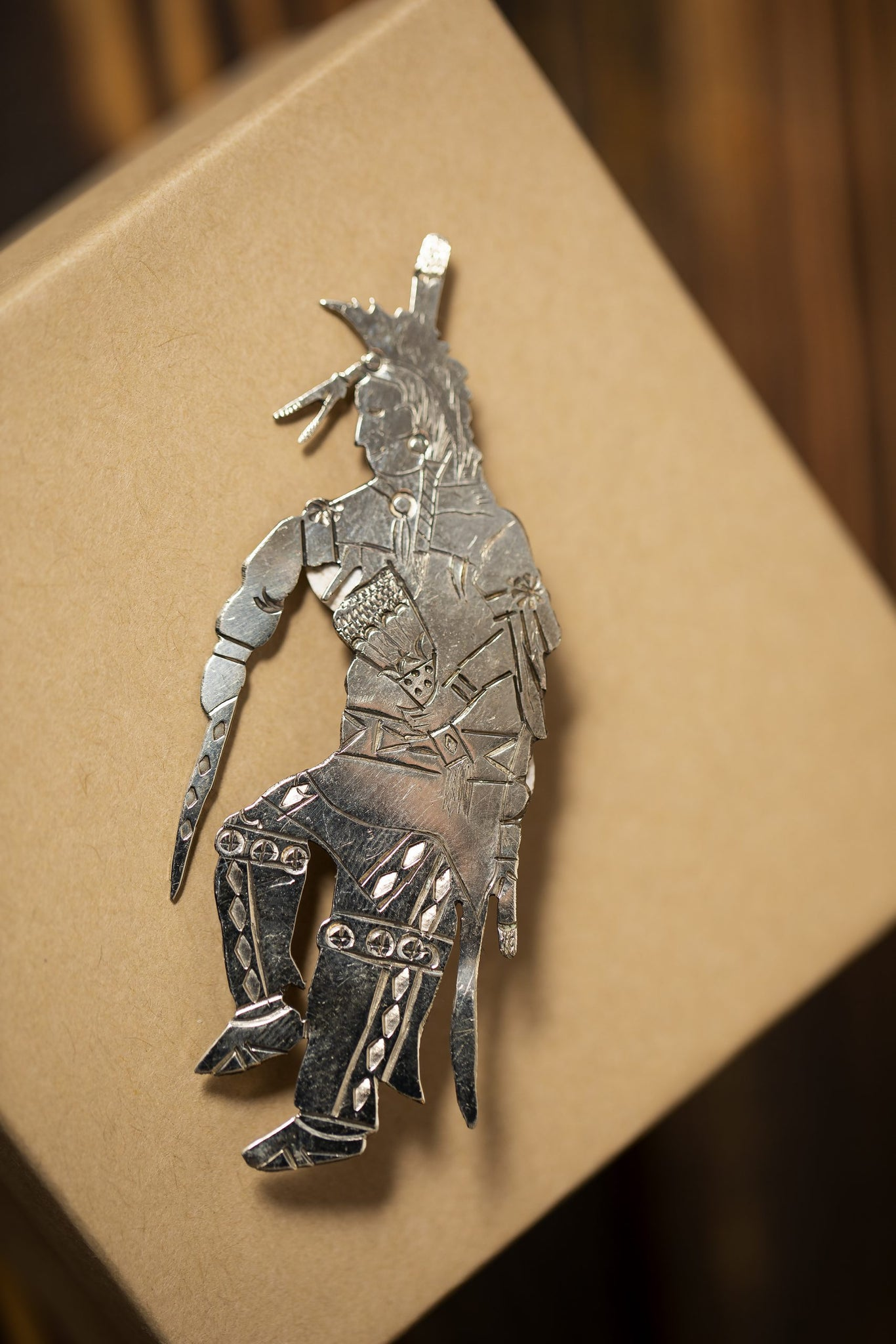 Sterling Silver Straight Dancer Pin/Brooch