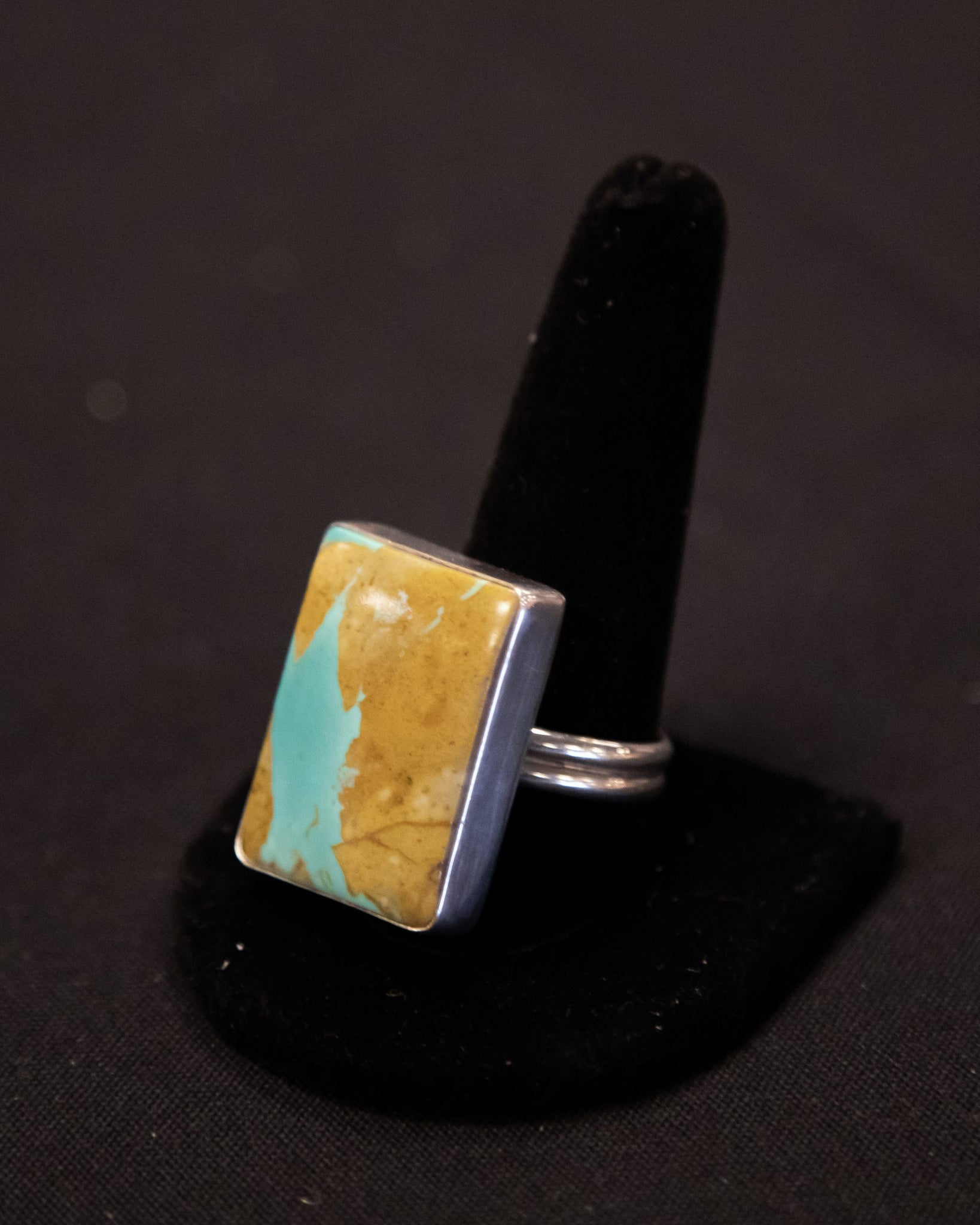 Earth Tone Turquoise Ring