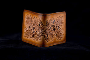 Leather Hand Tooled Wallet