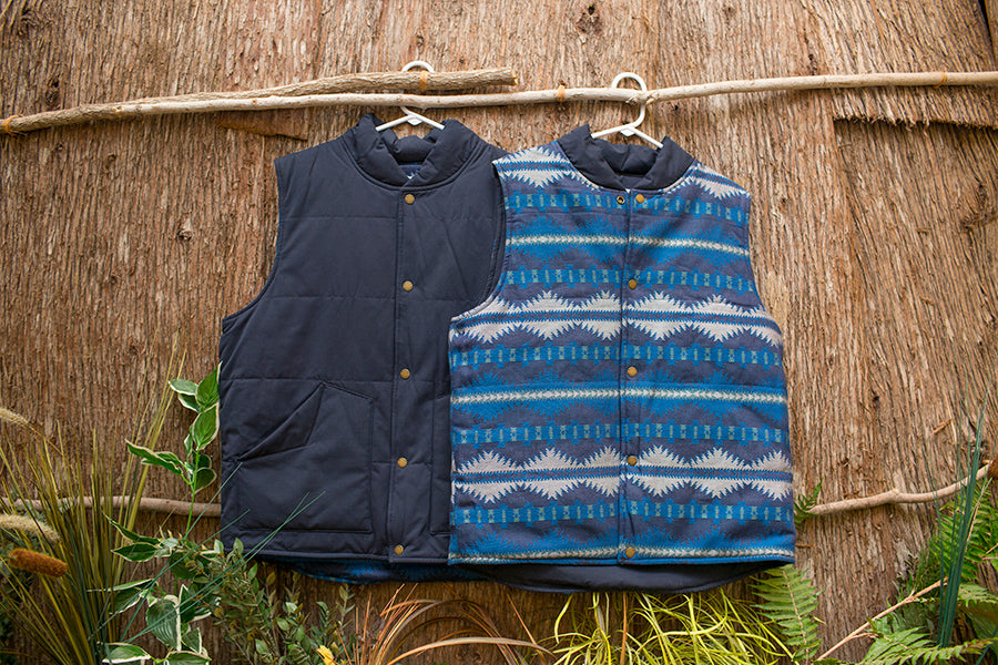 Reversible Quilted Pendleton Vest