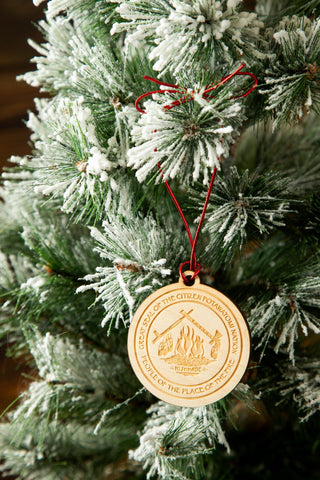 Wood CPN Seal Ornament