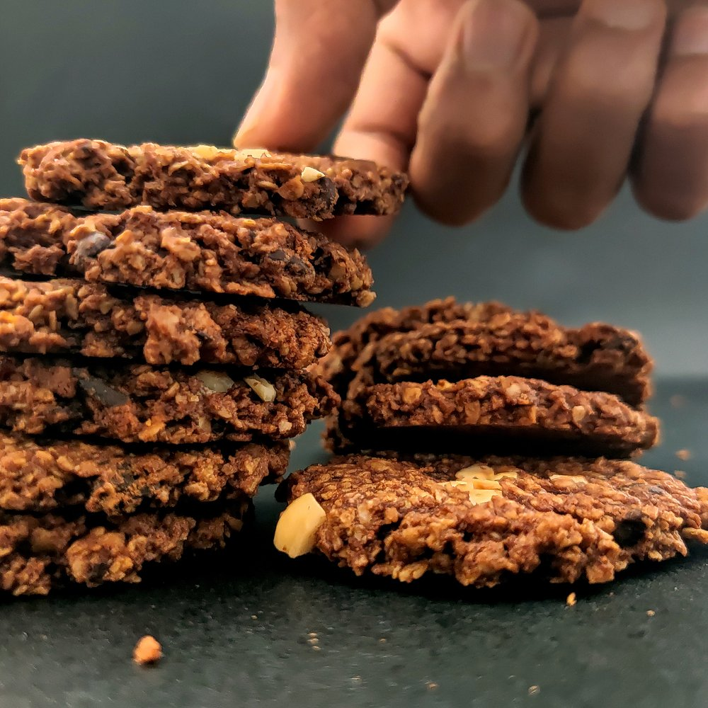 Cacao Berry Oatmeal Cookies