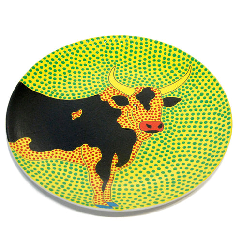 Hand Painted Side Plate - Bull