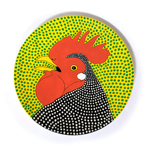 Hand Painted Side Plate - Rooster