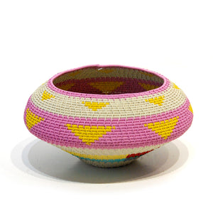 Telephone wire ukhamba bowl - large